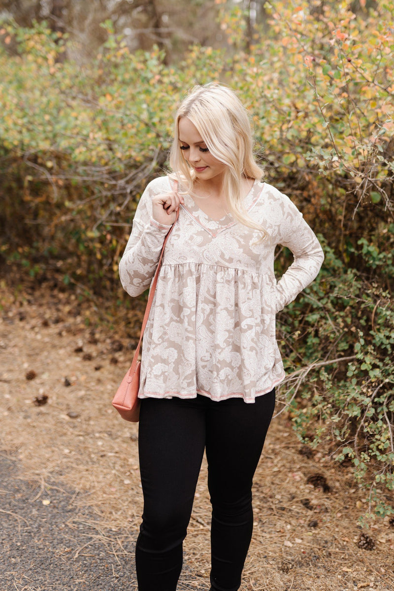 Dream A Little Dream Paisley Babydoll Top