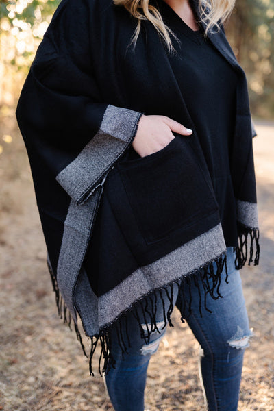 The Sweetest Cape In Black And Gray