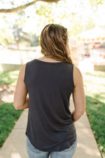 Essential Tank Top In Coal Black