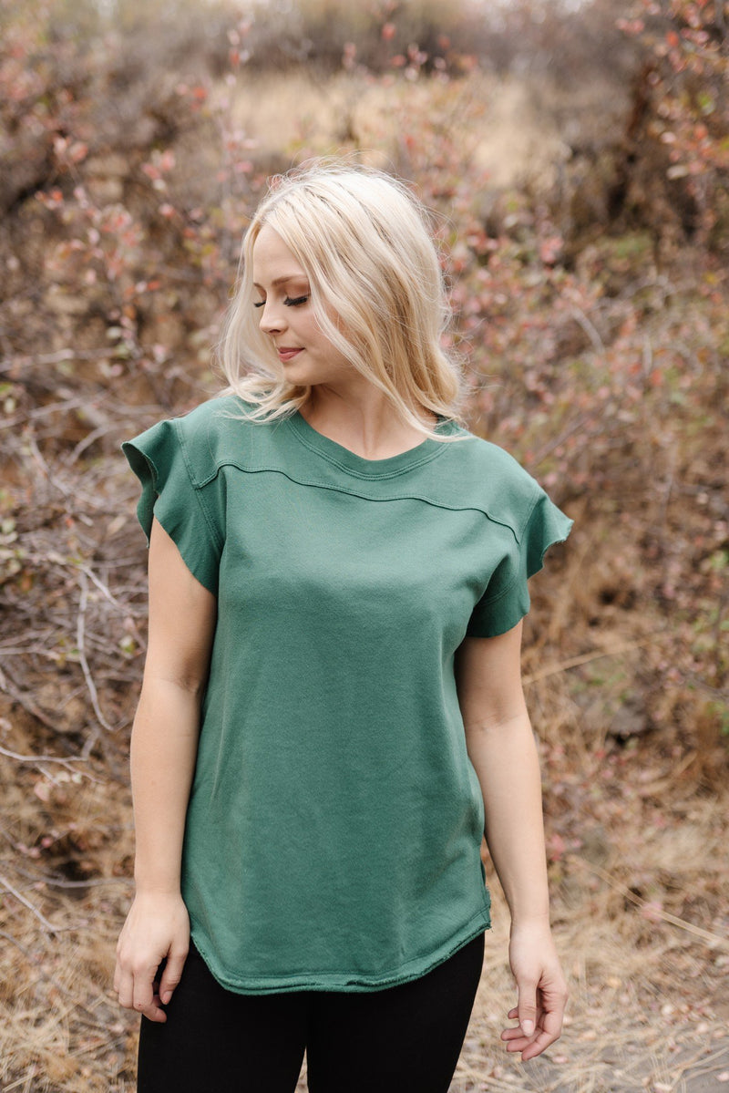 The Real MVP Top In Hunter Green