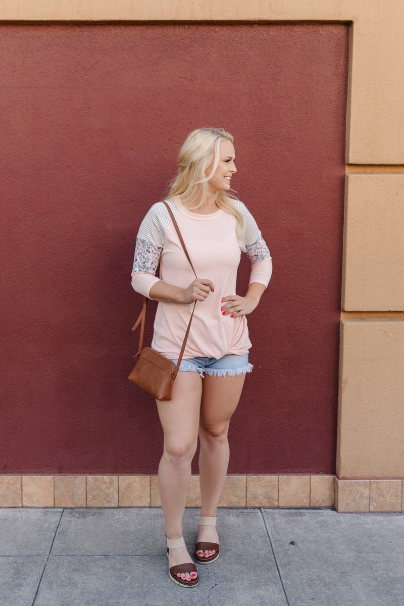 Summer Garden Tunic in Peach