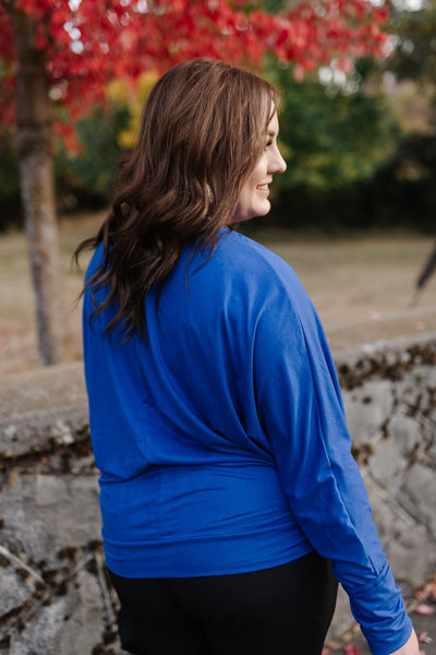 Lady In Royal Blue Top