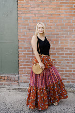 Samba All Night Tierred Maxi Skirt