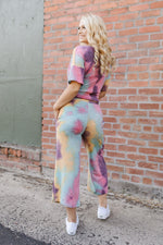 Cotton Candy Rainbow Tie Dye Joggers