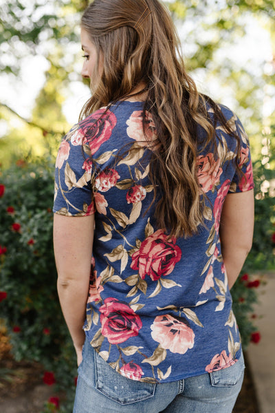 Simply Floral In Navy