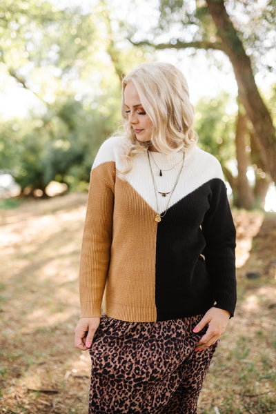 Shift To Neutral Chevron Sweater