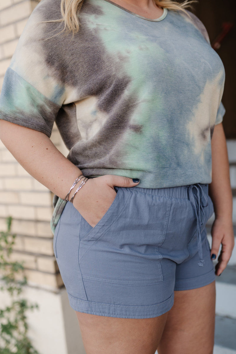 Tangled Up In Blue Summer Shorts