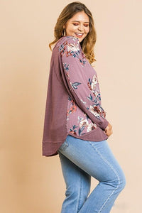 Front Floral Thermal Top
