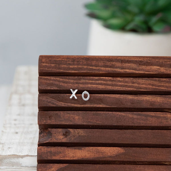 XO Love Studs: Gold, Rose Gold or Silver Earrings