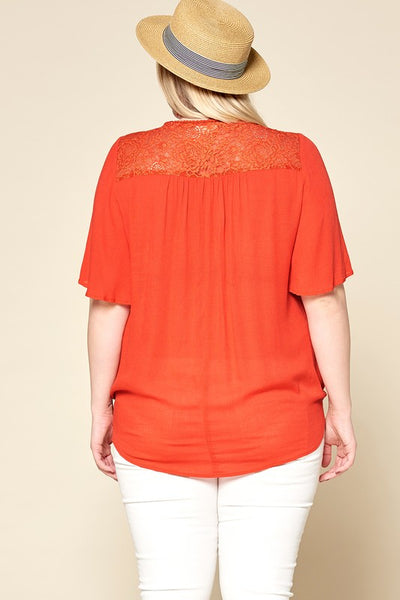 Pop of Tangerine Top