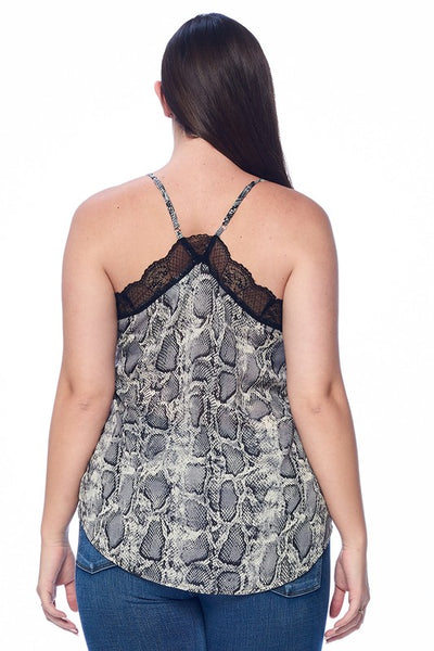 Snake Print Camisole Tank Top