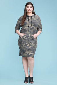 Camo Dress with Pockets