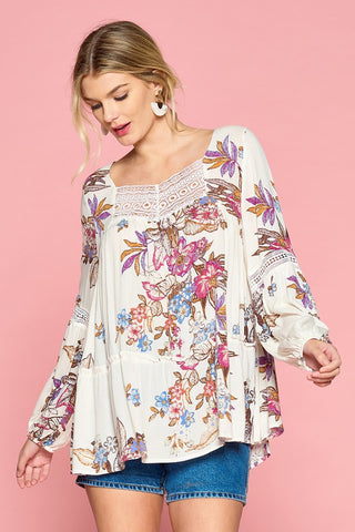 The floral bohemian goddess top