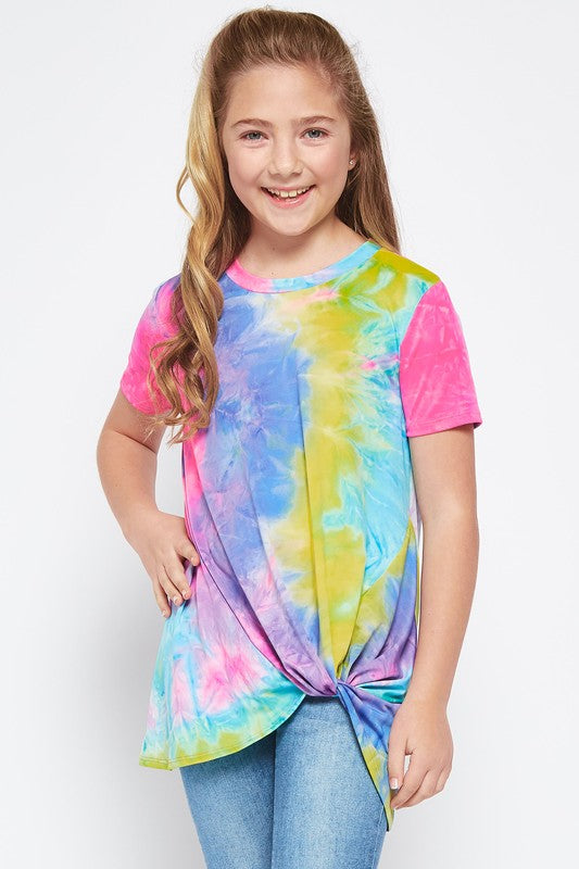 Kaleidoscope Tie Dye Top - Bright