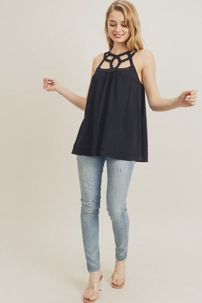 Cut out band Top