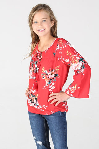 School Bells Floral Top