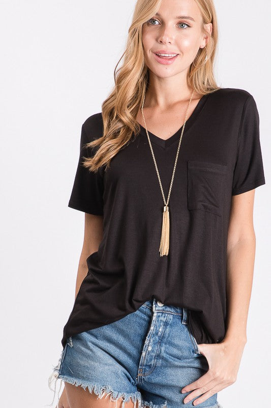 Everyday V-Neck Tee - Black