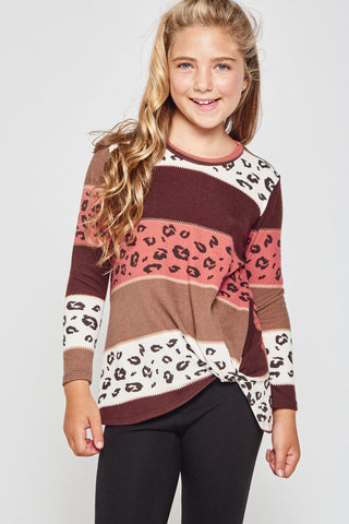 Leopards and Stripes Top