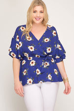 Floral Blossoms Wrap Top