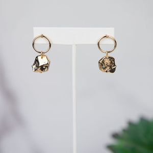 Natalie Hammered Coin Dangle Earring