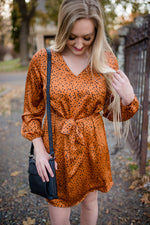 Going My Way Dress In Autumn Copper
