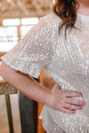 Glisten To Me Ruffled Sequin Top
