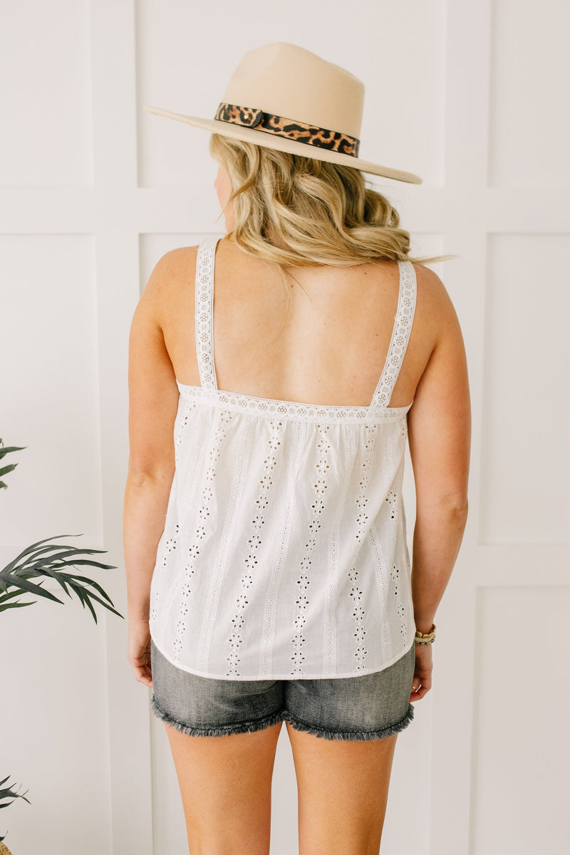 Eyelet You Know Camisole In Off-White
