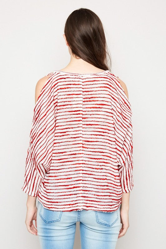Red White and Stripes Top