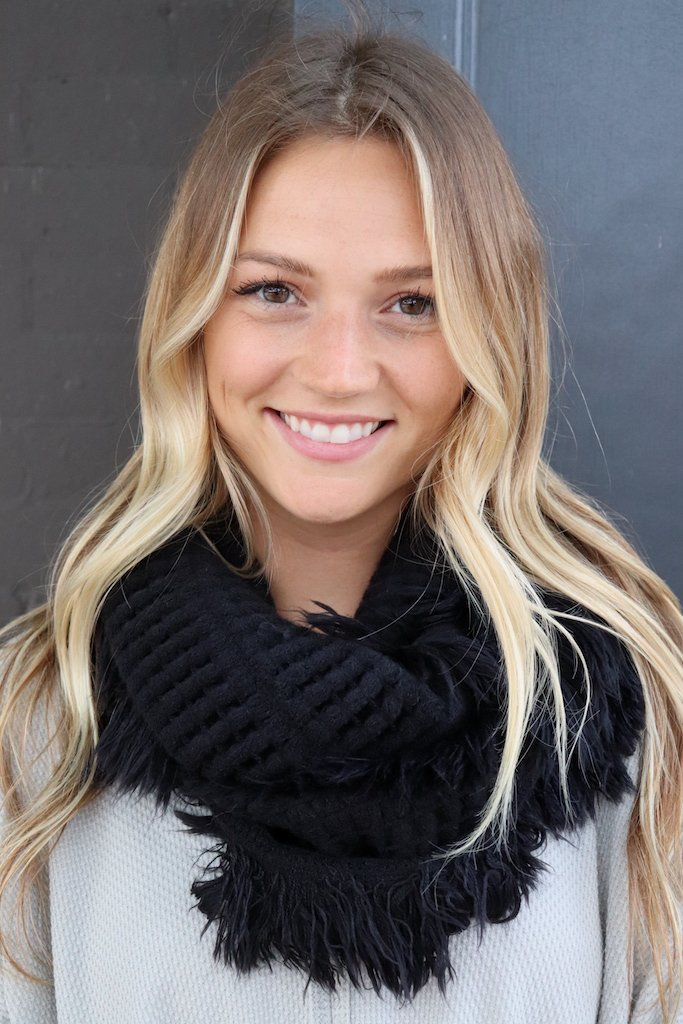 Fringe Infinity Scarf - MULTIPLE COLORS
