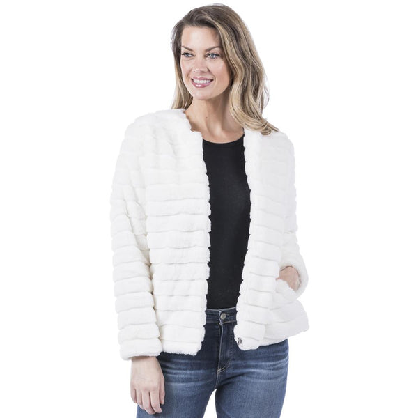 Faux Rabbit Jacket - MULTIPLE COLORS