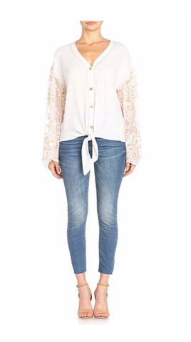 Elegant Lace Sleeve Top