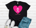 Breast Cancer Heart - MULTIPLE COLORS