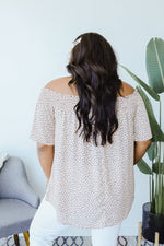 Tiny Twinkling Top In Taupe