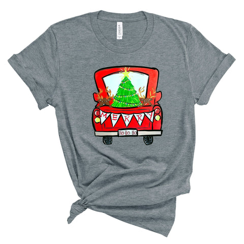Xmas Truck - Deep Heather Grey