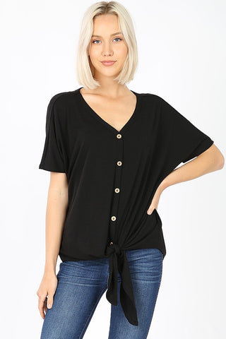 Easy Peasy button down top