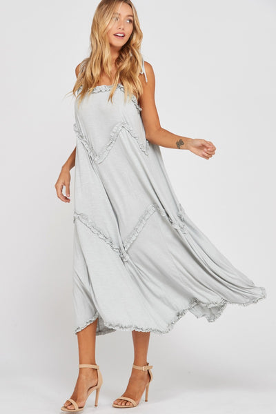 Chevron Maxi Dress - Cloud