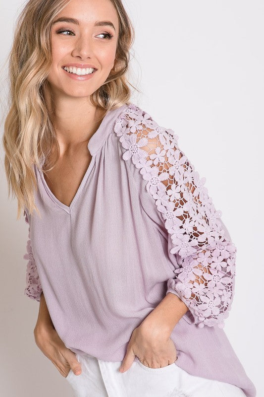 Lavender Blossoms Top