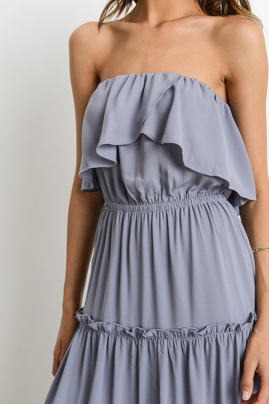 Dusty Blue Maxi Dress