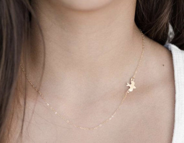 Peace Dove Pendant Necklace : available in silver or gold