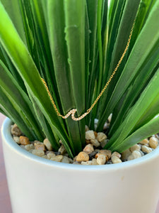 Sea Wave Necklace 18K Gold