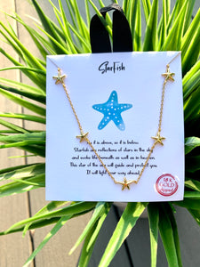 Starfish Necklace 18K Gold