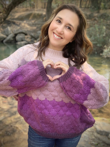 Purple Pretty Sweater