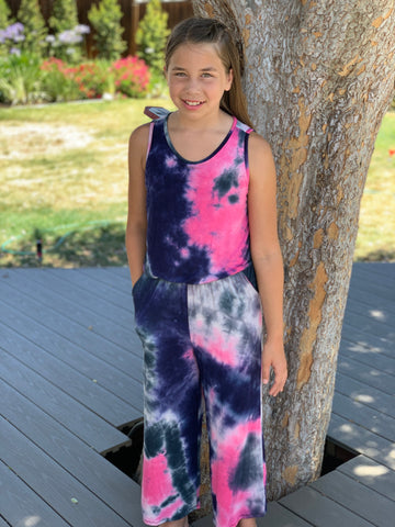 Rock Star Tie Dye Jumpsuit