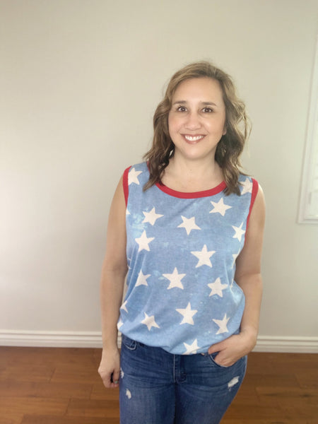 Fourth All over Stars top