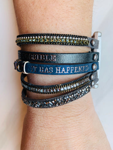 Believe all things are possible - because you believed it has happened bracelet
