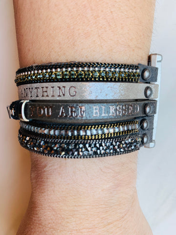 You can accomplish anything - You are beautiful You are blessed Bracelet
