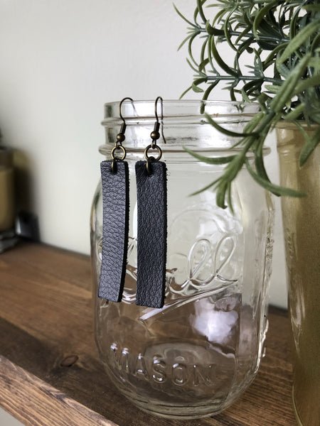 Genuine Leather Drop Earrings