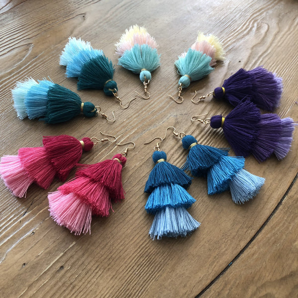 Elise Party Tassel Earrings