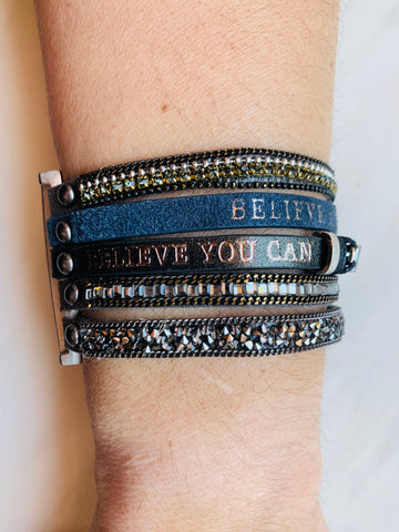 Believe anything is possible - believe you can accomplish anything bracelet