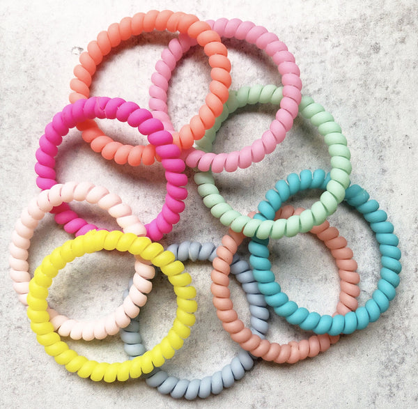 Skinny Matte Brights Lauren Lane Hair Coils. Set of 5.